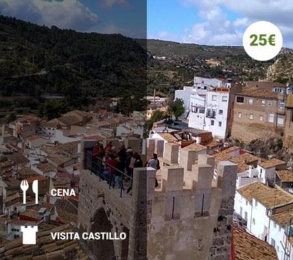 Visita teatralizada al Castillo de Buñol+ Cena en el recinto amurallado